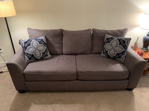 Heather Gray Upholstered Couch for Sale in University, VA
