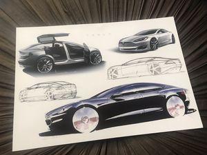 Tesla Franz Von Holzhausen Models S and X print. for Sale in San Francisco, CA