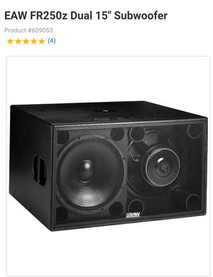 """EAW FR250Z Dual 15"""" Compact High Powered Subwoofer Like NEW (2 available) for Sale in Orlando, FL"""