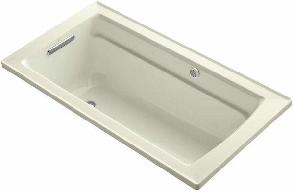 KOHLER K-1122-G-96 Archer BubbleMassage 5-Foot Bath, Biscuit