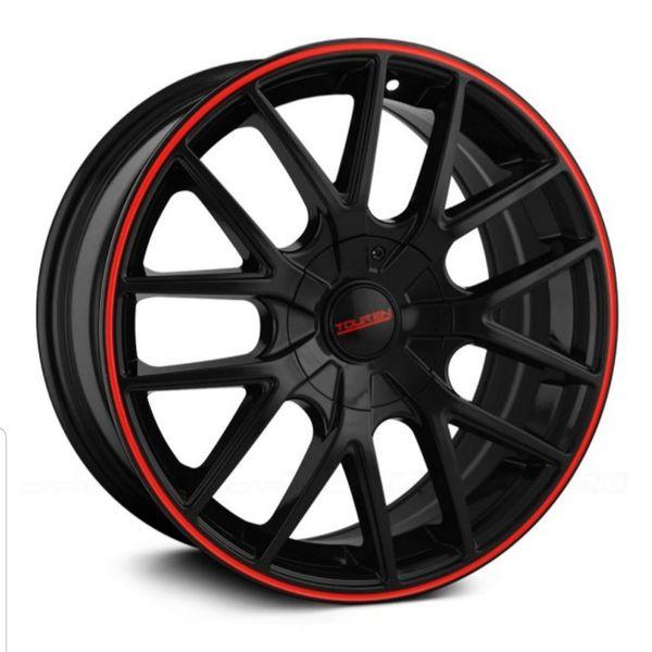 "TOUREN - TR60 17"" Black Rims W/ Red"