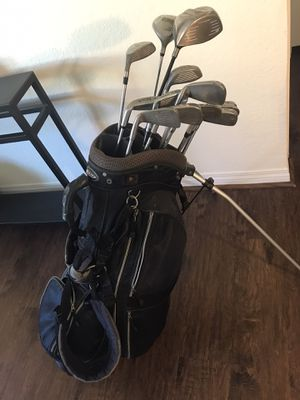 Golf clubs driver putter with golf bag and stand sports tour technology Wilson Predator gold hawk Titleist balls La Jolla driver Nike sports acti for Sale in San Diego, CA