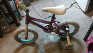 Girls used Seastar bicycle with training wheels for Sale in Dorchester, IL