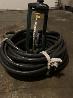 50' Heavy Duty Hose And Sprinkler for Sale in Portland,  OR