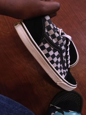 Vans black and white checkered for Sale in Marshall, TX