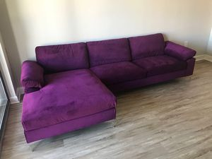 Sectional Velvet sofa for Sale in Silver Spring, MD