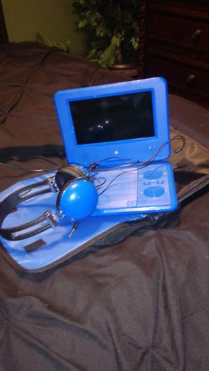 Portable dvd player with Earphones and storage bag. for Sale in Wakefield, VA