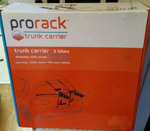 Prorack Bike Rack for 3 bikes, attach to trunk of car for Sale in Portland, OR