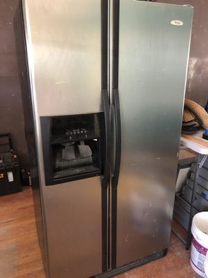 Whirlpool stainless steel refrigerator $300 OBO for Sale in Wichita, KS