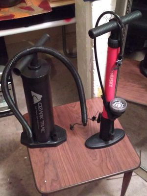 Ozark trail and husky air pumps. Both very durable. Tough for Sale in Las Vegas, NV