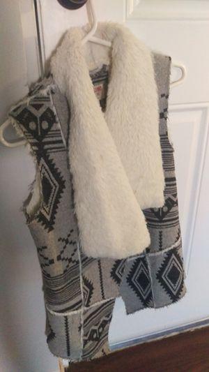 Bohemian boho vest cardigan fall outfit clothes jacket size s for Sale in Phoenix, AZ