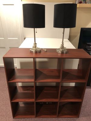 Storage cubes + 2 lamps for Sale in Cumberland, RI
