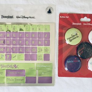 disney TINKERBELL - computer keyboard sticker & pin / button set for Sale in Irvine, CA