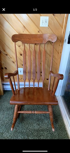 Antique solid wood oak rocking chair for Sale in Phoenix, AZ