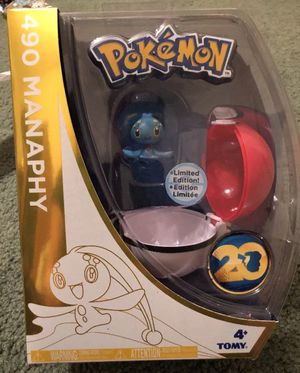 New Pokemon 20th Anniversary Manaphy Figure & Poke Ball for Sale in Lemoore, CA