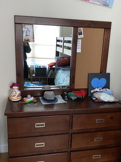 Bunk Bed And Dresser With Mirror for Sale in Burlington,  MA
