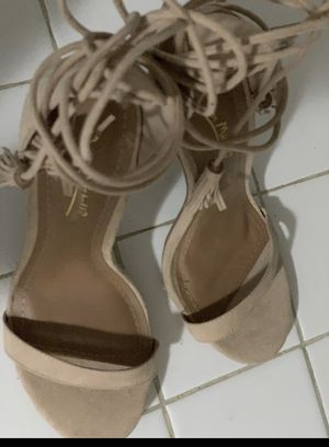 Fringes beige sexy high heels for Sale in Hialeah, FL