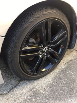 Honda sports dipped in black 19 itch rim and tire trade only. S for Sale in Providence, RI