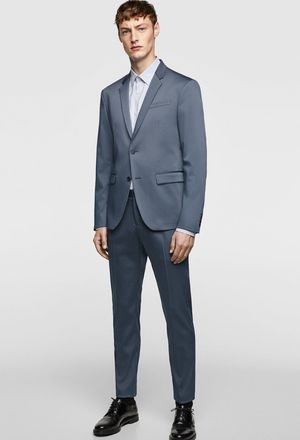 Zara Men's Suit Jacket and pants 32 slate blue slim size 40 new for Sale in Alexandria, VA