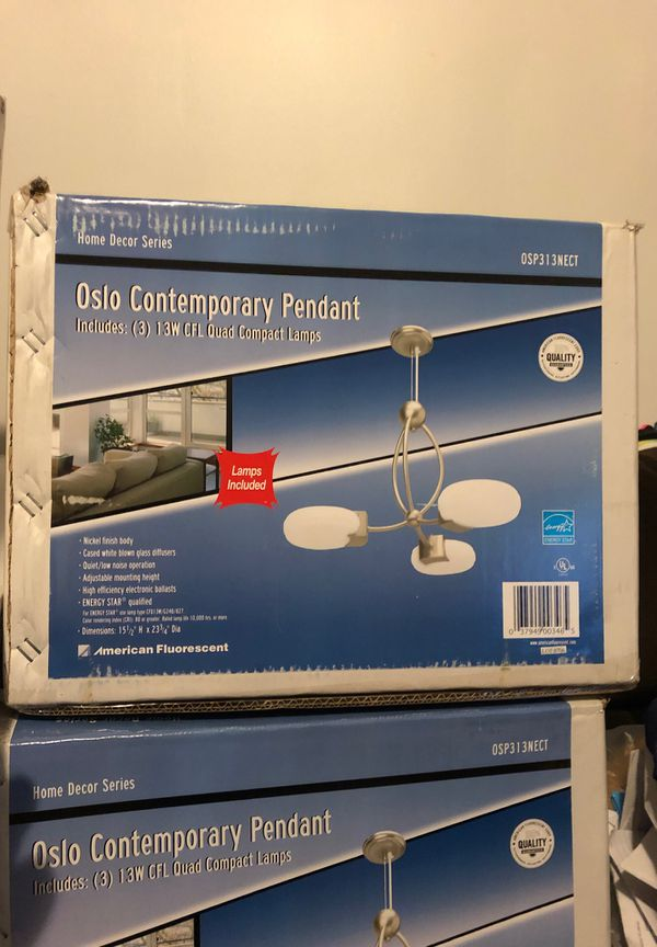Oslo Contemporary pendant Home Decor Series American fluorescent chandelier