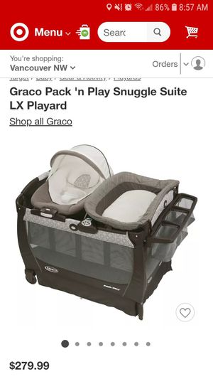 Graco deluxe Pack n Play Suite with bassinet, cradle, changing table, vibrations, and music for Sale in Vancouver, WA