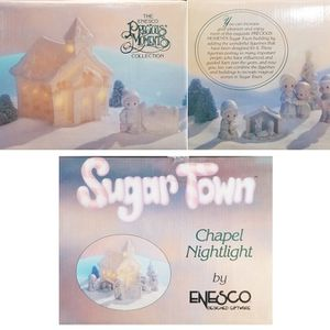 Precious Moments - Sugar Town - Chapel Nightlight Set for Sale in Brea, CA