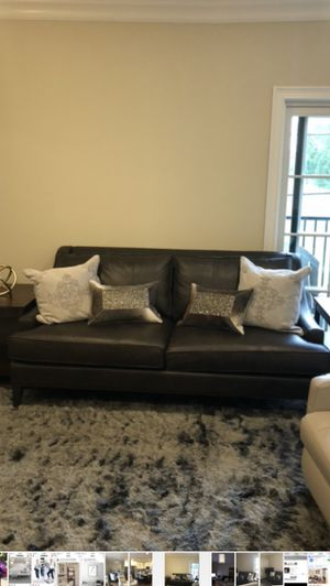 Leather sofa - Brown for Sale in Buffalo, NY