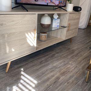 """70"""" Glass Shelf 2-door TV Stand - Birch for Sale in Atlanta, GA"""