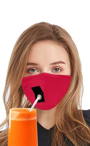 Masks for drinking with Velcro straw opening for Sale in Franklin Park, IL