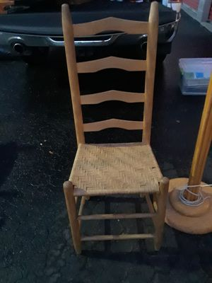 Antique ladderback chair for Sale in Denver, CO