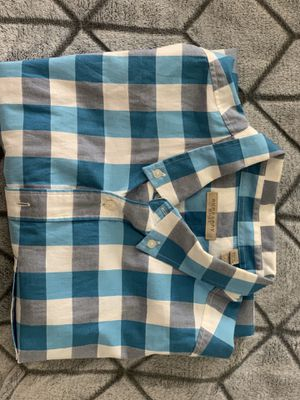 Men's Short Slv Burberry Button up for Sale in Blacklick, OH