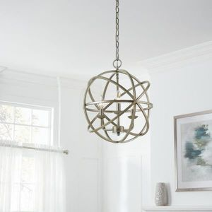 Sarolta Sands 3-Light Antique Silver Orb Chandelier NEW for Sale in Plantation, FL