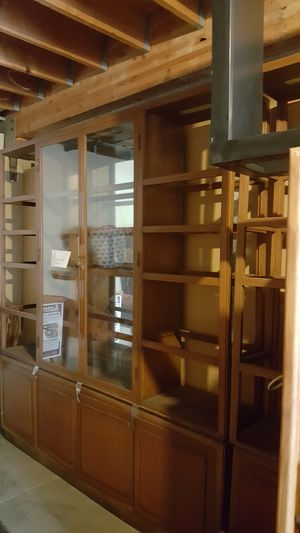 Free!, 2 Vintage lighted hard wood display cases for Sale in Santa Monica, CA