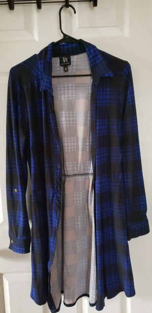 Cardigan womens blue plaid for Sale in Streamwood, IL