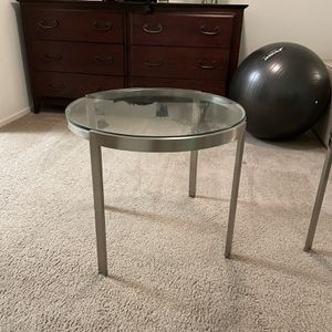 luxury stainless steel end table (pair) for Sale in San Diego, CA