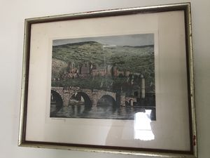 Antique original etching on silk. for Sale in Miami, FL