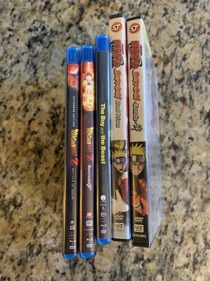 Dragon ball Z, Naruto Shippuden, The Boy and The Beast for Sale in Santa Ana, CA