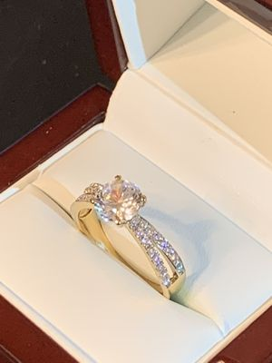 (4th of July deals) Beautiful 14k Solid Gold Simulated Diamond Engagment Ring for Sale in Glendale, CA