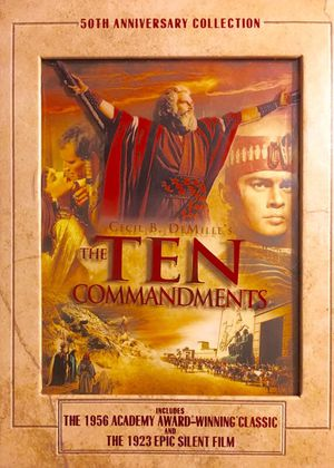 The Ten Commandments - 50th Anniversary Collection: 1956 Academy Award Winning Classic and the 1923 Epic Silent Film. NEW in opened gift set. for Sale in Mesa, AZ