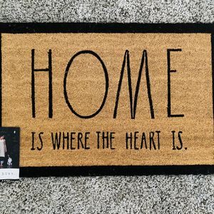 Rae Dunn Home Is Where The Heart Is Door Mat for Sale in Littlerock, CA
