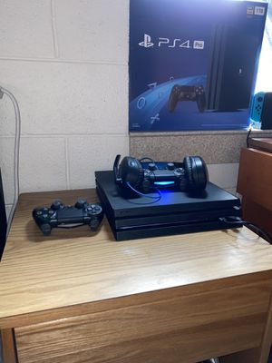 1 TB PS4 Pro, with 2 controllers and turtle beach headset. (PS4 is only 5 months old) for Sale in Washington, DC