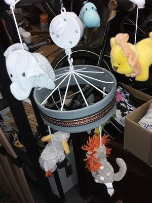 Baby crib mobile spins & plays music $35obo for Sale in Oakland Park, FL