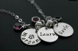 Personalized Hand-stamped Charm Necklace for Sale in Tifton, GA