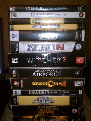 $4.00 each PC Games Complete: Doom 3,Serious Sam,Airborne,Witcher,Star Wars,Fallout for Sale in Ontario, CA