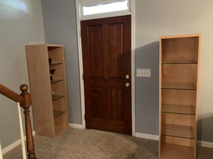 2 Storage cabinets with Glass Shelves for Sale in Atlanta, GA