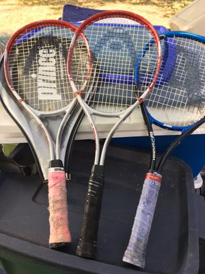 Carbon tennis rackets great shape only 15 each firm for Sale in MD, US