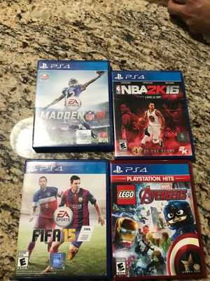 Four PS4 games for Sale in Webberville, TX