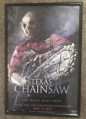 Big Texas Chainsaw Poster 27x40 FRAME NOT INCLUDED for Sale in Port St. Lucie, FL