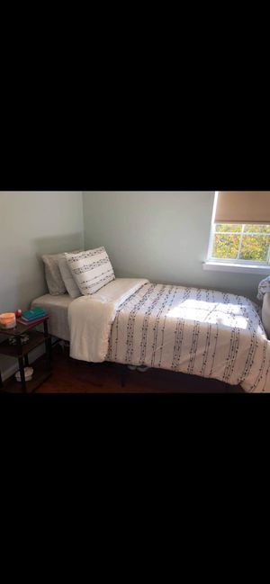Twin size memory foam mattress and bed frame for Sale in Arlington, VA