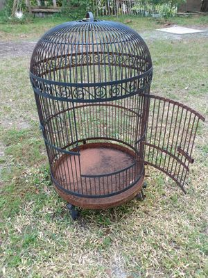 "$60. Measurements 37-39"" Height x 22"" Width Large / Huge Bird Metal Cage for Sale in Clearwater, FL"